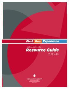 Indiana University. Resource Guide
