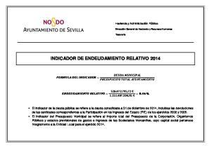 INDICADOR DE ENDEUDAMIENTO RELATIVO 2014
