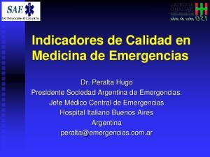 Indicadores de Calidad en Medicina de Emergencias