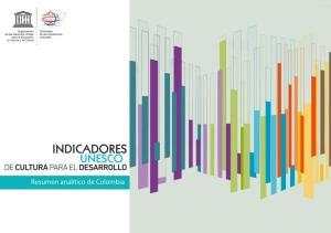 INDICADORES DE CULTURA PARA EL DESAROLLO EN COLOMBIA