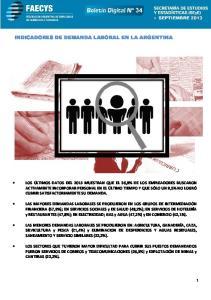 INDICADORES DE DEMANDA LABORAL EN LA ARGENTINA