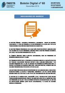 INDICADORES DE INGRESO