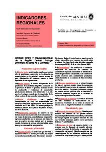 INDICADORES REGIONALES