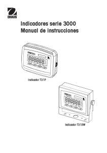 Indicadores serie 3000 Manual de instrucciones
