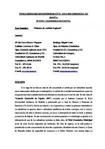 INDICADORES SOCIOECONÓMICOS EN EL ANUARIO COMERCIAL DE ESPAÑA: El NIVEL ECONÓMICO MUNICIPAL