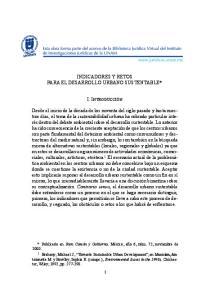 INDICADORES Y RETOS PARA EL DESARROLLO URBANO SUSTENTABLE*