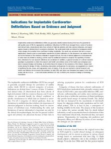 Indications for Implantable Cardioverter- Defibrillators Based on Evidence and Judgment