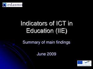Indicators of ICT in Education (IIE)
