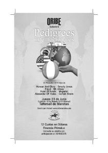 INDICE GENERAL REFERENCIA DE PADRILLOS. HONOUR AND GLORY (Relaunch y Fair To All por Al Nasr)