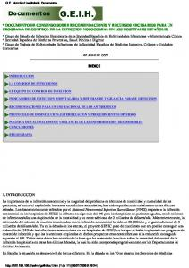 INDICE INDICADORES DE INFECCION HOSPITALARIA Y SISTEMAS DE VIGILANCIA PARA SU DETECCION