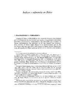 Indices y referencia en Peirce