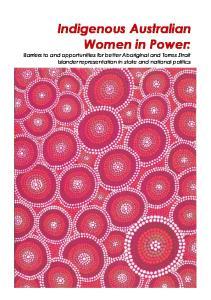 Indigenous Australian Women in Power: