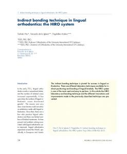 Indirect bonding technique in lingual orthodontics: the HIRO system