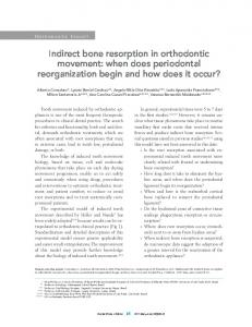 Indirect bone resorption in orthodontic movement: when does periodontal reorganization begin and how does it occur?