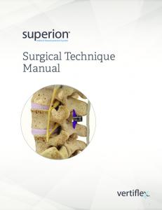 Indirect Decompression System. Surgical Technique Manual