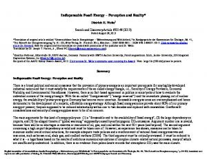 Indispensable Fossil Energy Perception and Reality*