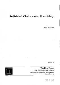 Individual Choice under Uncertainty
