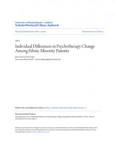 Individual Differences in Psychotherapy Change Among Ethnic Minority Patients