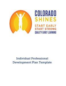 Individual Professional Development Plan Template