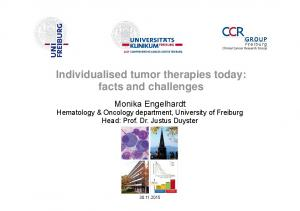 Individualised tumor therapies today: facts and challenges