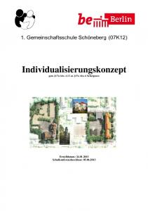 Individualisierungskonzept gem. 17a Abs. 4 i.v.m. 17a Abs. 6 Schulgesetz