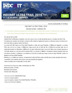 INDOMIT ULTRA TRAIL 2016