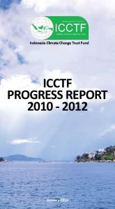 Indonesia Climate Change Trust Fund ICCTF PROGRESS REPORT