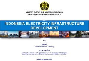INDONESIA ELECTRICITY INFRASTRUCTURE DEVELOPMENT