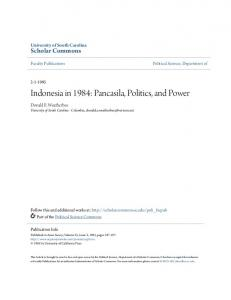 Indonesia in 1984: Pancasila, Politics, and Power