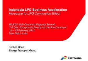 Indonesia LPG Business Acceleration Kerosene to LPG Conversion Effect