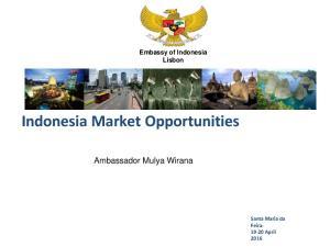 Indonesia Market Opportunities