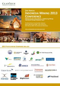 INDONESIA MINING 2013 CONFERENCE