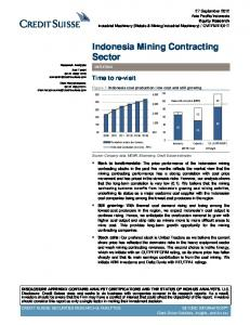 Indonesia Mining Contracting Sector