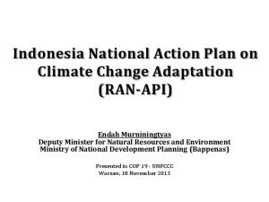 Indonesia National Action Plan on Climate Change Adaptation (RAN-API)