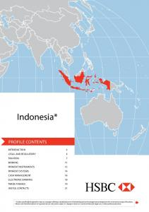 Indonesia* PROFILE CONTENTS