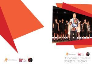 Indonesian Fashion Designer Program