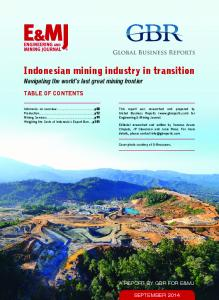 Indonesian mining industry in transition
