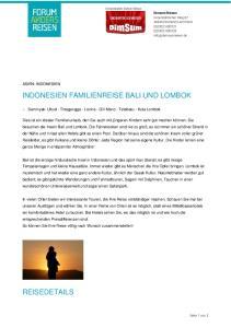 INDONESIEN FAMILIENREISE BALI UND LOMBOK