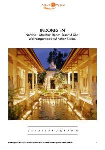 INDONESIEN Nordbali: Matahari Beach Resort & Spa: Wellnessparadies auf hohen Niveau