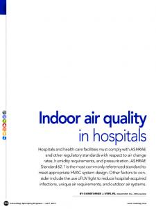Indoor air quality in hospitals