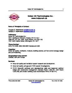 Indoor Air Technologies Inc