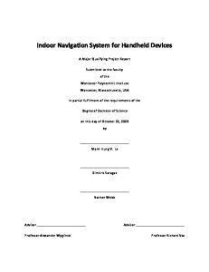 Indoor Navigation System for Handheld Devices