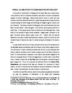 INDRA: A CASE STUDY IN COMPARATIVE MYTHOLOGY