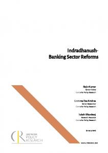 Indradhanush- Banking Sector Reforms
