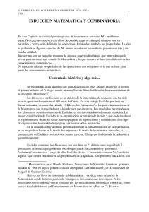 INDUCCION MATEMATICA Y COMBINATORIA