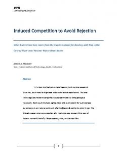 Induced Competition to Avoid Rejection