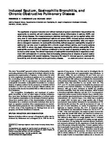 Induced Sputum, Eosinophilic Bronchitis, and Chronic Obstructive Pulmonary Disease