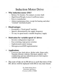 Induction Motor Drive