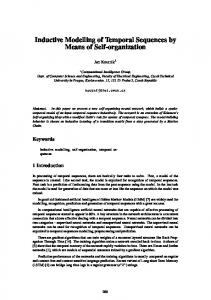 Inductive Modelling of Temporal Sequences by Means of Self-organization