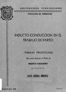 INDUCTO-CONDUCCION EN EL TRABAJO DE PARTO